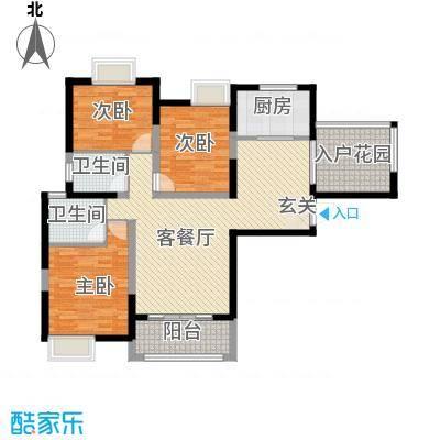 汉口西园户型3室2厅