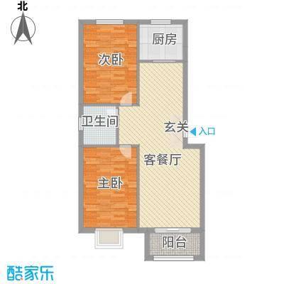 盛景华庭户型图B户型96.77 2室2厅
