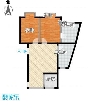 温泉桃花城户型图两居 2室1厅1卫1厨
