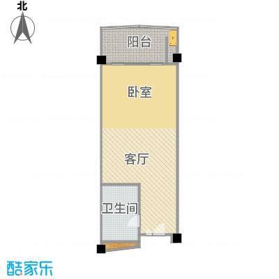 美锦熙海70.00㎡海景公寓C户型1厅1卫