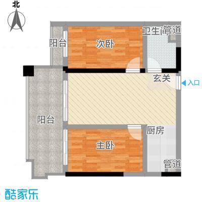 珊瑚宫殿96.65㎡珊瑚宫殿户型图海景公寓E6/E6反/E6a2室2厅1卫户型2室2厅1卫
