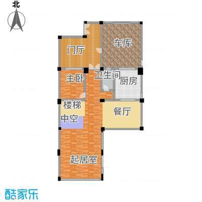 莫干山观云庄园474.00㎡F1一层平面图1户型1室1卫1厨