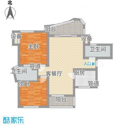 万宝威尼斯蓝湾90.58㎡万宝威尼斯蓝湾户型图A1户型2室2厅2卫户型2室2厅2卫