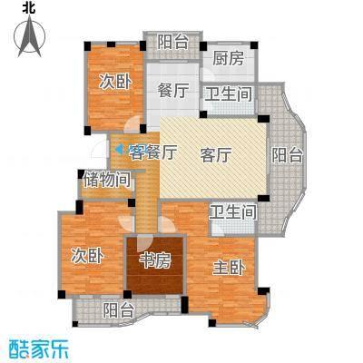 丁香花园173.13㎡3号楼2-11层东边套户型4室1厅2卫1厨