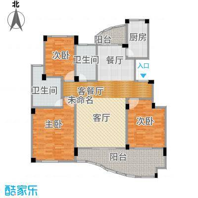 丁香花园137.97㎡1号楼02户型3室1厅2卫1厨
