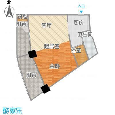 擎天半岛滨海国际公寓95.87㎡擎天半岛户型图G户型1室1厅1卫1厨户型1室1厅1卫1厨