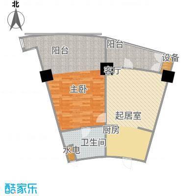 擎天半岛滨海国际公寓87.08㎡擎天半岛户型图A1户型1室1厅户型1室1厅
