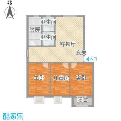 盛景华庭户型图C户型116.38 3室2厅