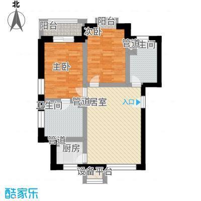 温泉桃花城户型图2室1厅2卫1厨