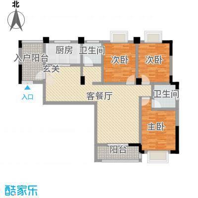 秦水名邸户型图一期11户型 3室2厅1卫