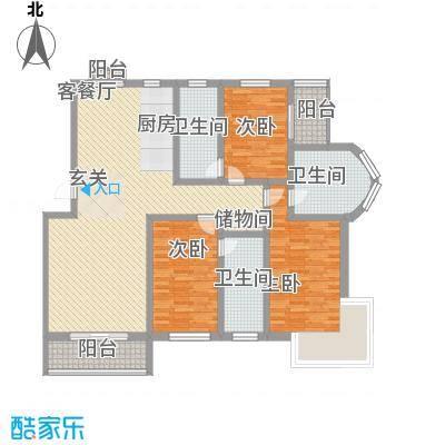 温泉桃花城户型图3室2厅2卫