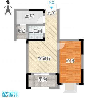 秦水名邸户型图一期312户型- 1室1厅1卫