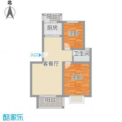 正康花园90.00㎡正康花园2室户型2室