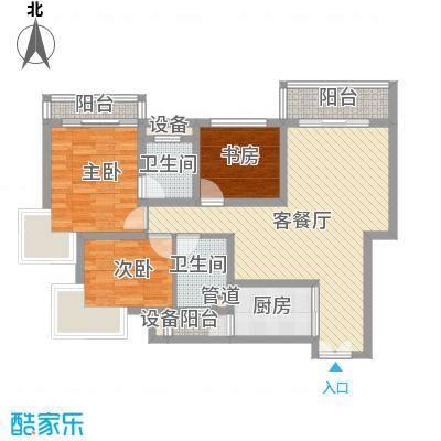 正康花园111.00㎡正康花园3室户型3室