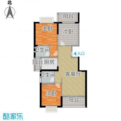 翠玉园新区130.57㎡5#楼A03户型3室1厅2卫1厨