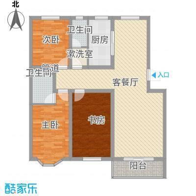 翡翠城129.28㎡翡翠城户型图C-3-2-2-129.283室2厅2卫1厨户型3室2厅2卫1厨