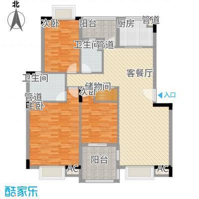 汉口春天汉口春天户型图杨柳晓月3室2厅2卫1厨户型3室2厅2卫1厨