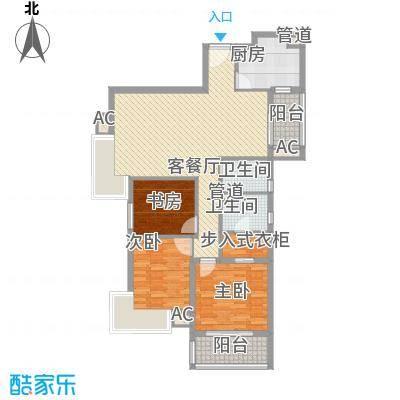 汉口春天汉口春天户型图户型B3室2厅1卫1厨户型3室2厅1卫1厨