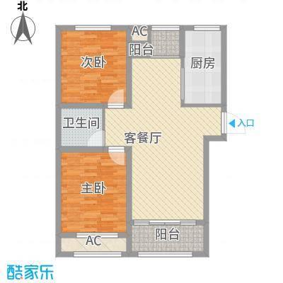 广厦财富中心101.20㎡广厦财富中心户型图B2户型图2室2厅1卫1厨户型2室2厅1卫1厨