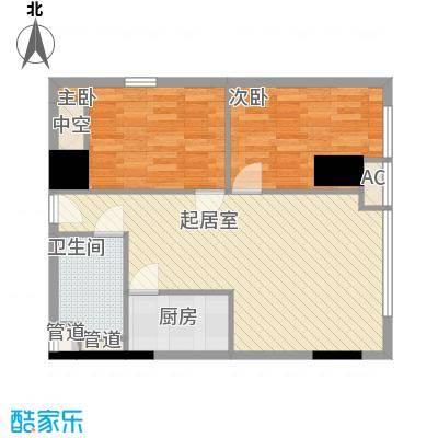 武汉城市广场83.57㎡武汉城市广场户型图C4户型2室2厅1卫1厨户型2室2厅1卫1厨