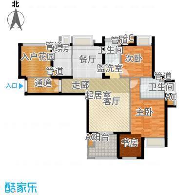 融侨锦江123.00㎡融侨锦江户型图X5系2C-3户型2室2厅2卫1厨户型2室2厅2卫1厨