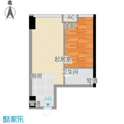 武汉城市广场59.05㎡武汉城市广场户型图B户型1室2厅1卫1厨户型1室2厅1卫1厨