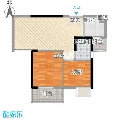 �房翰林珑城79.72㎡�房翰林珑城户型图2#楼B4户型2室2厅1卫1厨户型2室2厅1卫1厨