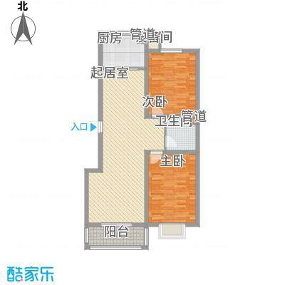 空港国际108.76㎡空港国际户型图1#户型图(售完)2室2厅1卫户型2室2厅1卫