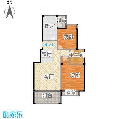 江南名苑98.18㎡A2户型2室1厅1卫1厨