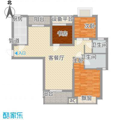 听涛观海龙台108.00㎡听涛观海龙台户型图A5户型3室2厅2卫1厨户型3室2厅2卫1厨