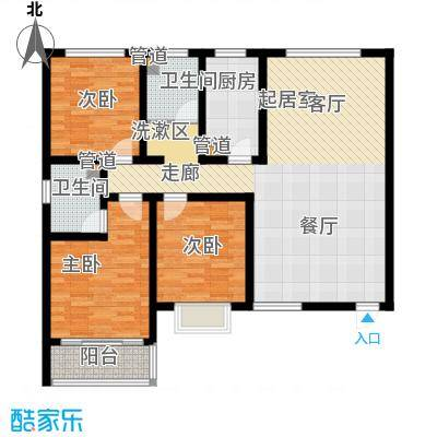 嘉冠尚城116.00㎡嘉冠尚城户型图A户型3室2厅2卫1厨户型3室2厅2卫1厨