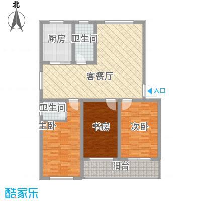 宜丰苑128.00㎡宜丰苑户型图4号B�型3室2厅2卫1厨户型3室2厅2卫1厨