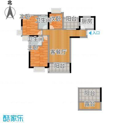 人信太子湾108.00㎡G1户型3室1厅2卫1厨