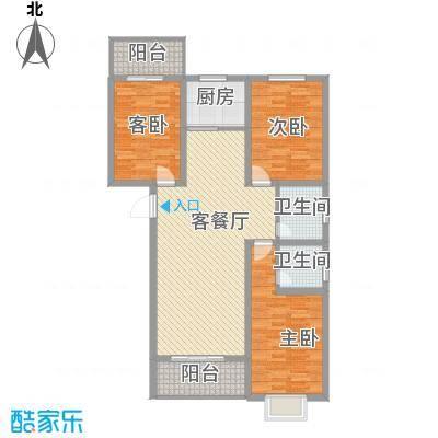 家和苑二期126.53㎡家和苑二期户型图G户型3室2厅2卫1厨户型3室2厅2卫1厨