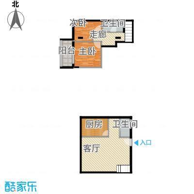 湘隆时代大公馆85.06㎡c4楼2003户型2室1厅2卫1厨