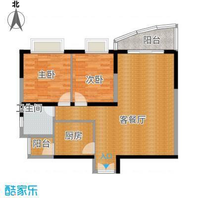 湘隆时代大公馆112.00㎡一期B-1a户型2室1厅1卫1厨