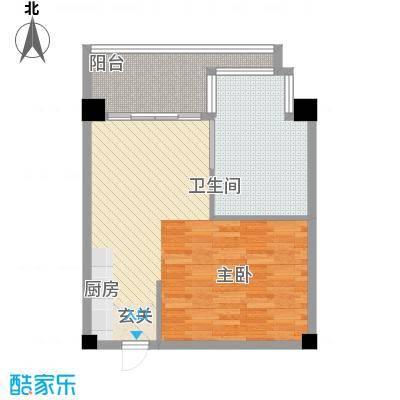 总统公寓64.00㎡总统公寓1室户型1室