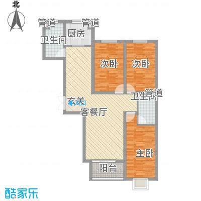 香水湾128.00㎡香水湾户型图C户型3室2厅2卫1厨户型3室2厅2卫1厨