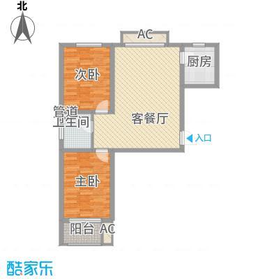 达世地产壹江城95.50㎡壹江城户型图7#04户型2室2厅1卫1厨户型2室2厅1卫1厨