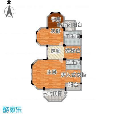 恒远锦绣兰庭112.00㎡联排中层平面户型2室2卫