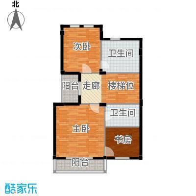 恒远锦绣兰庭76.00㎡联排上层平面户型3室2卫