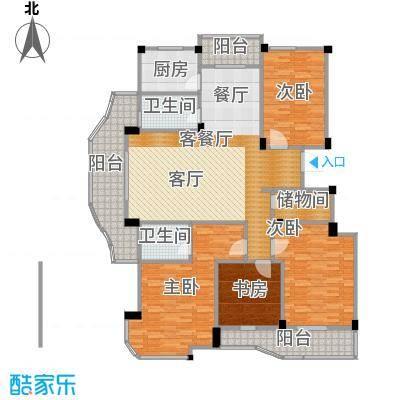 丁香花园172.54㎡3号楼4-11层西边套户型4室1厅2卫1厨