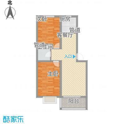 城市印象85.44㎡城市印象户型图B已售完2室2厅1卫1厨户型2室2厅1卫1厨