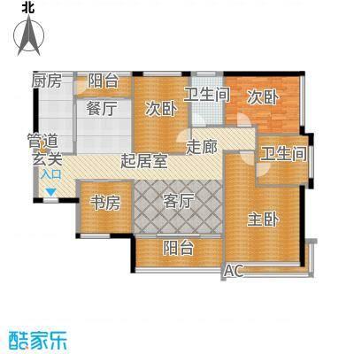 泰和花园162.15㎡泰和花园户型图4#楼CD户型3室2厅2卫1厨户型3室2厅2卫1厨