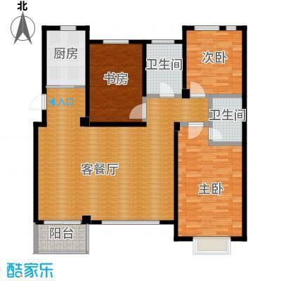 西山庭院二期花石匠124.00㎡西山庭院20号楼三层右侧户型3室1厅2卫1厨