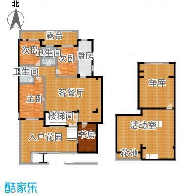 西山庭院二期花石匠248.00㎡西山庭院20号楼一层左侧户型4室1厅2卫1厨