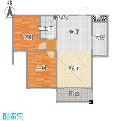 水岸豪庭101.56㎡B-3户型2室1卫1厨