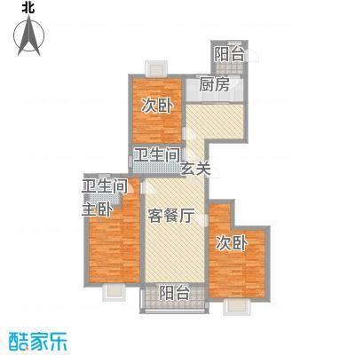 理想城小区143.71㎡D户型3室2厅