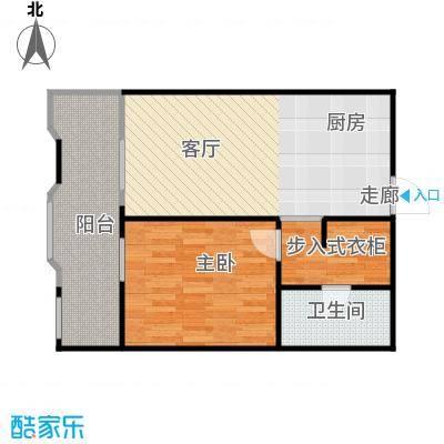 丁香公馆61.43㎡A5户型1室1卫