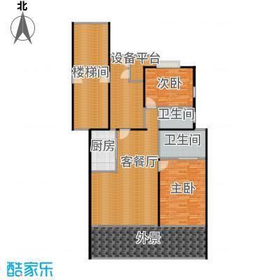 华门清水湾139.19㎡户型2室1厅2卫1厨